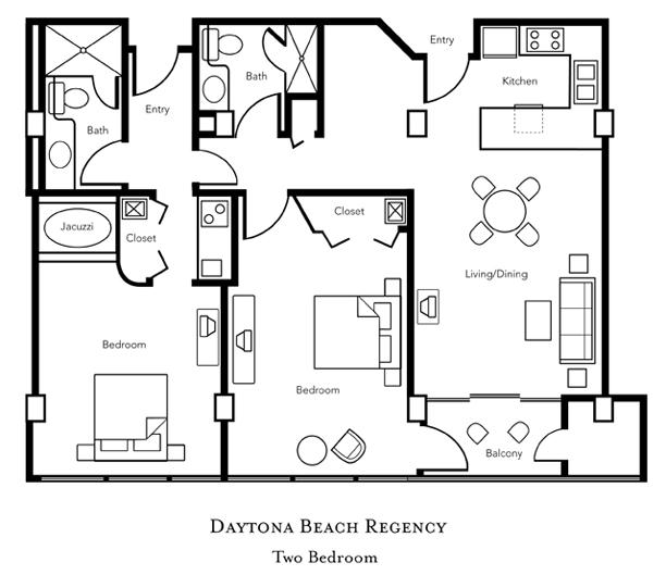 1 Bedroom Presidential Suite. Daytona Beach Regency   Florida Diamond Resorts International